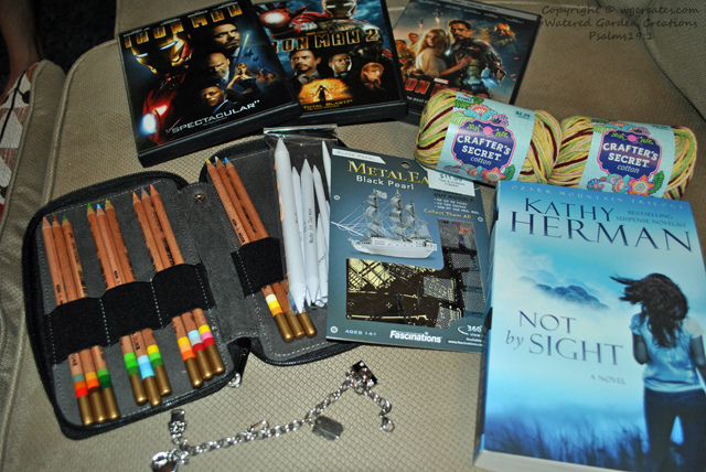 All my gifts from my birthday. I am so blessed to have such a wonderful husband and children who love to spoil me.