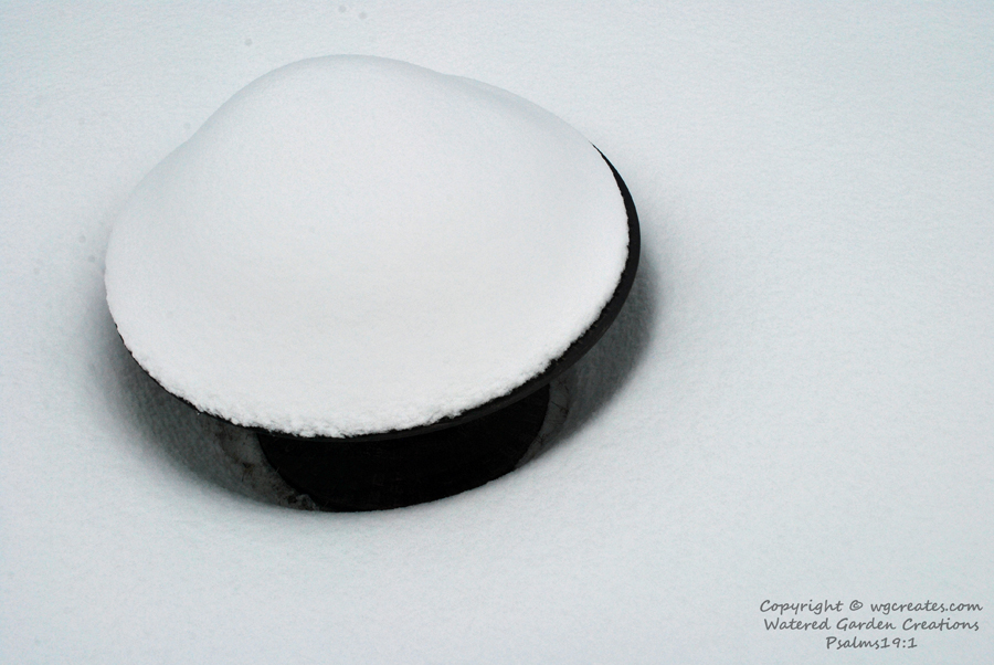 This is our firepit, looks like a bit mushroom doesn't it? :D