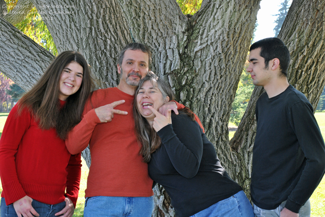 Having fun with the family during our family photos shoot.  :)